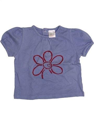 Camiseta de manga corta niña LA REDOUTE CRÉATION violeta 6 meses verano #1334304_1