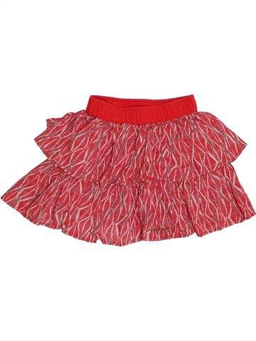 Falda niña JEAN BOURGET rojo 5 años verano #1334476_1