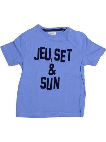 Camiseta de manga corta niño CYRILLUS azul 4 años verano #1334728_1