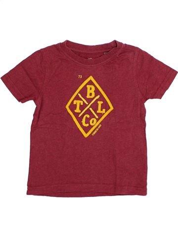 T-shirt manches courtes garçon TIMBERLAND violet 4 ans été #1334729_1
