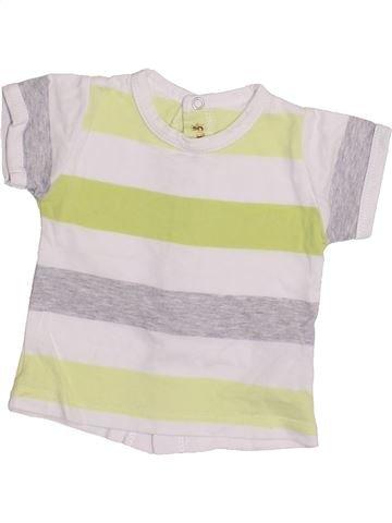 Camiseta de manga corta niño BERLINGOT blanco 3 meses verano #1335727_1