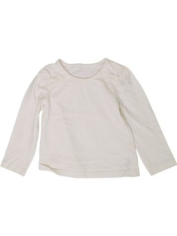 T-shirt manches longues fille GEORGE blanc 3 ans hiver #1336026_1