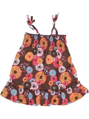 Robe fille OKAIDI marron 2 ans été #1336155_1