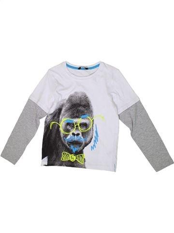 T-shirt manches longues garçon GEORGE blanc 9 ans hiver #1336342_1