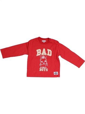 T-shirt manches longues garçon MINIMAN rouge 2 ans hiver #1337715_1