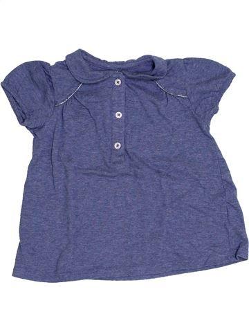 Polo manches courtes fille BOUT'CHOU bleu 2 ans été #1339231_1