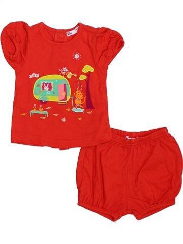 Pijama de 2 piezas niña DPAM rojo 6 meses verano #1339506_1