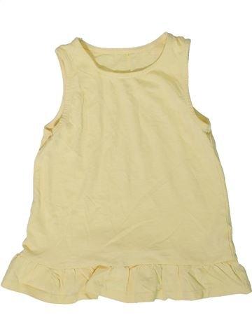 T-shirt sans manches fille GEORGE beige 6 ans été #1340478_1