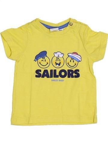 T-shirt manches courtes garçon SMILEY jaune 6 mois été #1340497_1