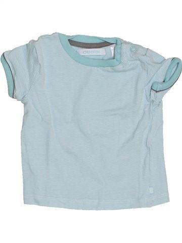 T-shirt manches courtes garçon OKAIDI bleu 3 mois été #1342354_1