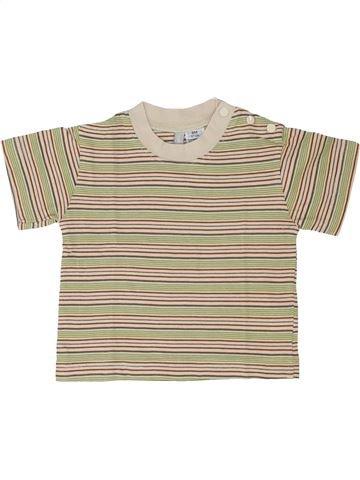 Camiseta de manga corta niño TOUT COMPTE FAIT beige 6 meses verano #1342998_1