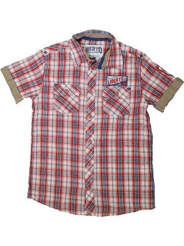 Chemise manches courtes garçon LIBERTO rose 12 ans été #1343024_1