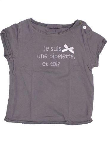 Polo manches courtes fille ARSENE ET LES PIPELETTES violet 12 mois été #1343138_1