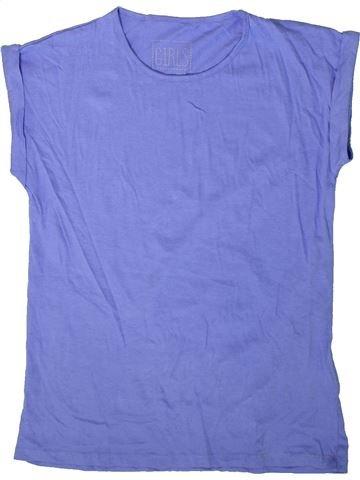 T-shirt manches courtes fille MISS E-VIE violet 12 ans été #1343807_1