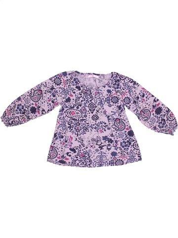 Blusa de manga larga niña GEMO violeta 5 años invierno #1343963_1
