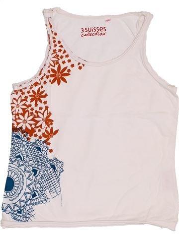 T-shirt sans manches fille 3 SUISSES blanc 8 ans été #1344059_1