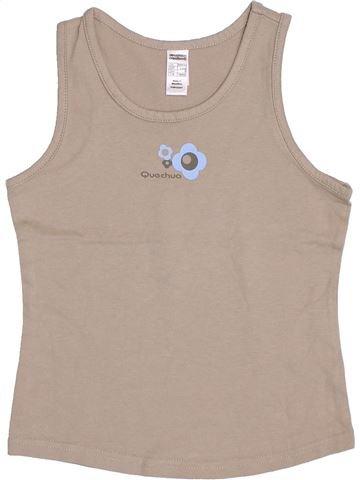 T-shirt sans manches fille QUECHUA beige 8 ans été #1344072_1