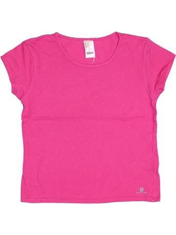 T-shirt manches courtes fille DOMYOS rose 8 ans été #1344161_1