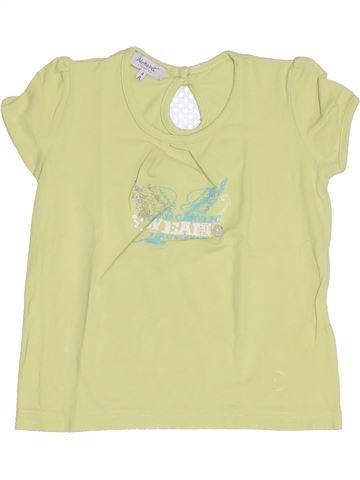 T-shirt manches courtes fille ALPHABET vert 4 ans été #1344444_1
