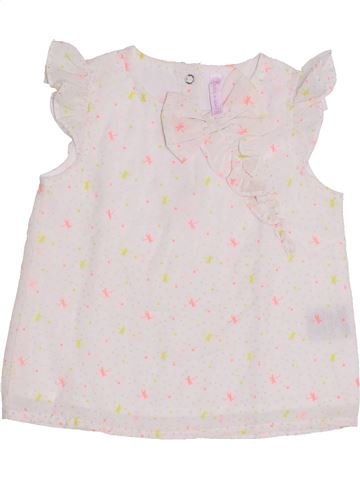 Blusa de manga corta niña GEMO blanco 2 años verano #1344615_1