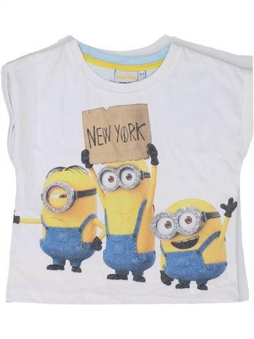 T-shirt manches courtes fille LES MINIONS blanc 9 ans été #1345397_1
