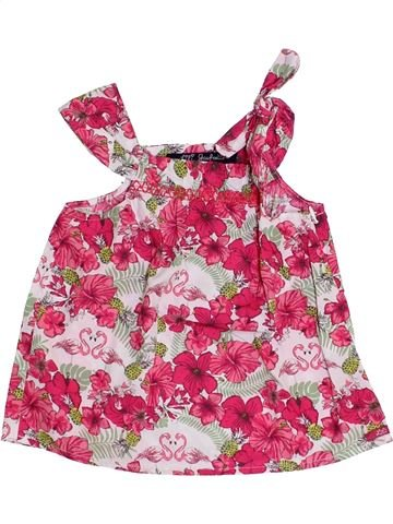 Blouse manches courtes fille LILI GAUFRETTE rose 3 ans été #1345431_1