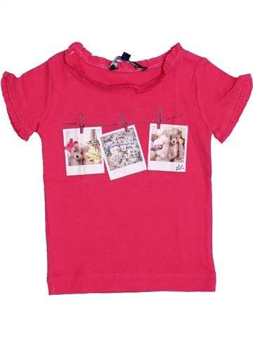 T-shirt manches courtes fille LILI GAUFRETTE rose 2 ans été #1345441_1