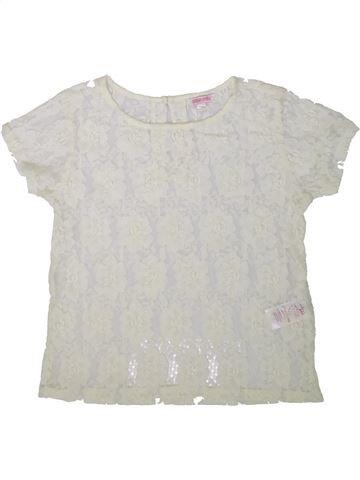T-shirt manches courtes fille MISS E-VIE blanc 12 ans été #1345540_1