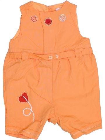 Combinación corta niña AUBISOU naranja 6 meses verano #1345726_1