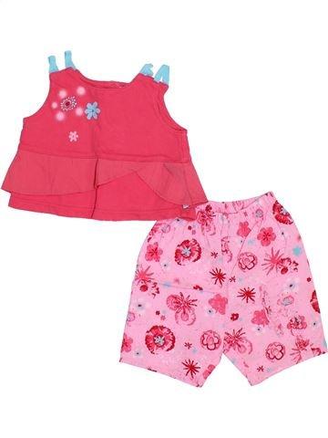 Conjunto niña AUBISOU rosa 6 meses verano #1345731_1