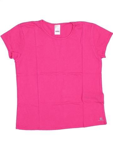 T-shirt manches courtes fille DÉCATHLON rose 12 ans été #1345755_1