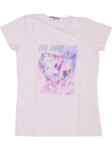 T-shirt manches courtes fille LISA ROSE blanc 12 ans été #1345771_1