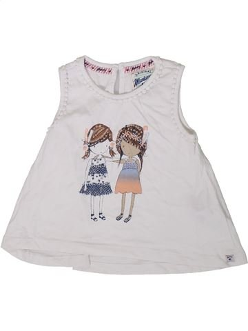 T-shirt sans manches fille MANTARAY blanc 4 ans été #1345772_1