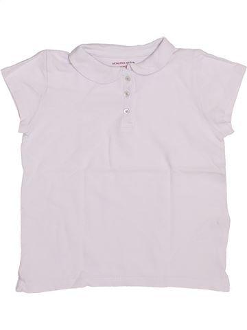 Polo de manga corta niña MONOPRIX blanco 6 años verano #1345890_1