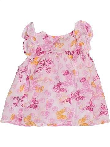 Blusa de manga corta niña PREMAMAN rosa 6 meses verano #1345961_1