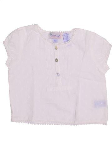 Blusa de manga corta niña PREMAMAN blanco 2 años verano #1345965_1