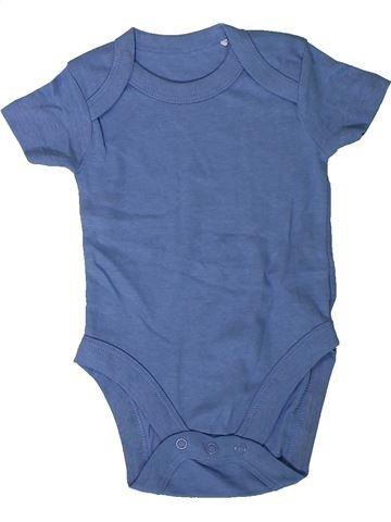 T-shirt manches courtes garçon LILY & DAN bleu 3 mois été #1346067_1