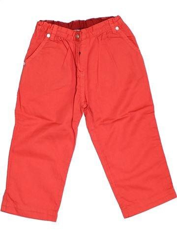 Pantalon fille PETIT BATEAU orange 2 ans été #1346322_1