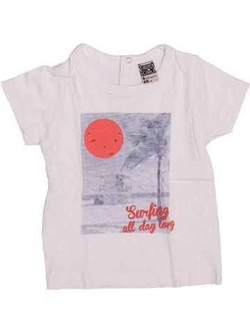 T-shirt manches courtes garçon TAPE À L'OEIL blanc 6 mois été #1346840_1