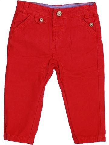 Pantalon garçon TAPE À L'OEIL rouge 6 mois été #1346866_1
