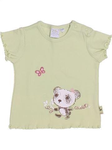 T-shirt manches courtes fille CADET ROUSSELLE beige 6 mois été #1347046_1