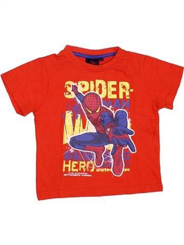 T-shirt manches courtes garçon SUPERS HÉROS rouge 3 ans été #1348533_1