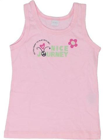 T-shirt sans manches fille IANA rose 7 ans été #1349819_1