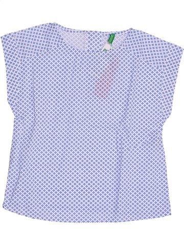 Blusa de manga corta niña BENETTON azul 5 años verano #1350593_1