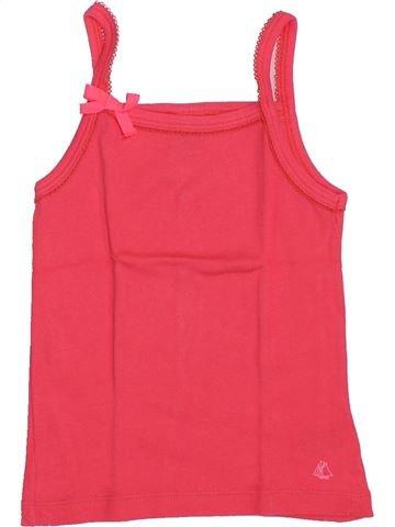 Camiseta sin mangas niña PETIT BATEAU rosa 6 años verano #1351275_1