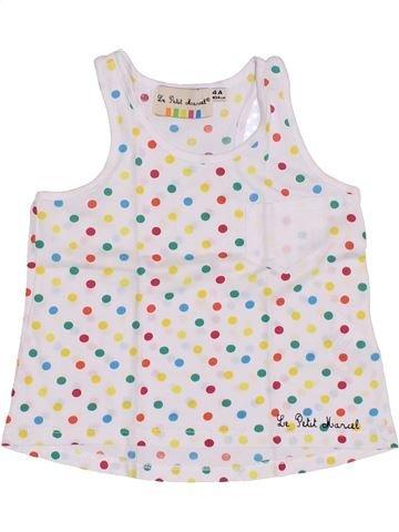 T-shirt sans manches fille LE PETIT MARCEL blanc 4 ans été #1351380_1