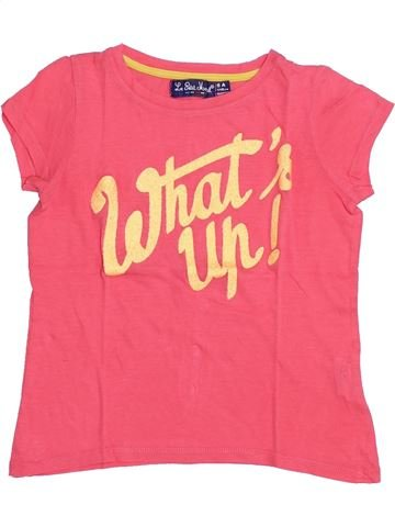 T-shirt manches courtes fille LE PETIT MARCEL rose 6 ans été #1351387_1