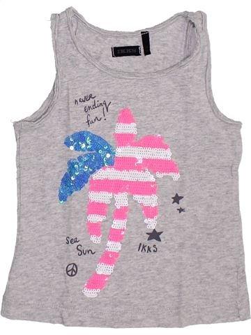 T-shirt sans manches fille IKKS gris 3 ans été #1351416_1