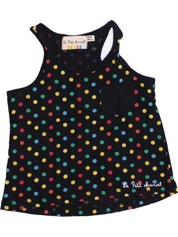 T-shirt sans manches fille LE PETIT MARCEL noir 4 ans été #1351453_1