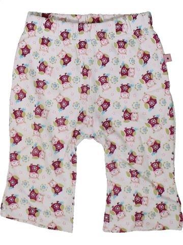 Pantalon fille OKAY blanc 1 mois été #1351897_1